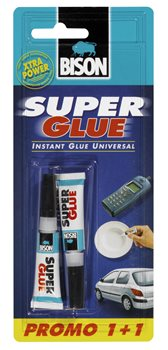 SUPER GLUE LIQUID 2ML DOUBLE PACK PROMO (1+1)