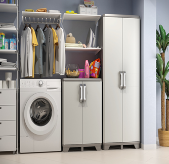 KETER TIDY LOW  CABINET GRAY  68 x39x97